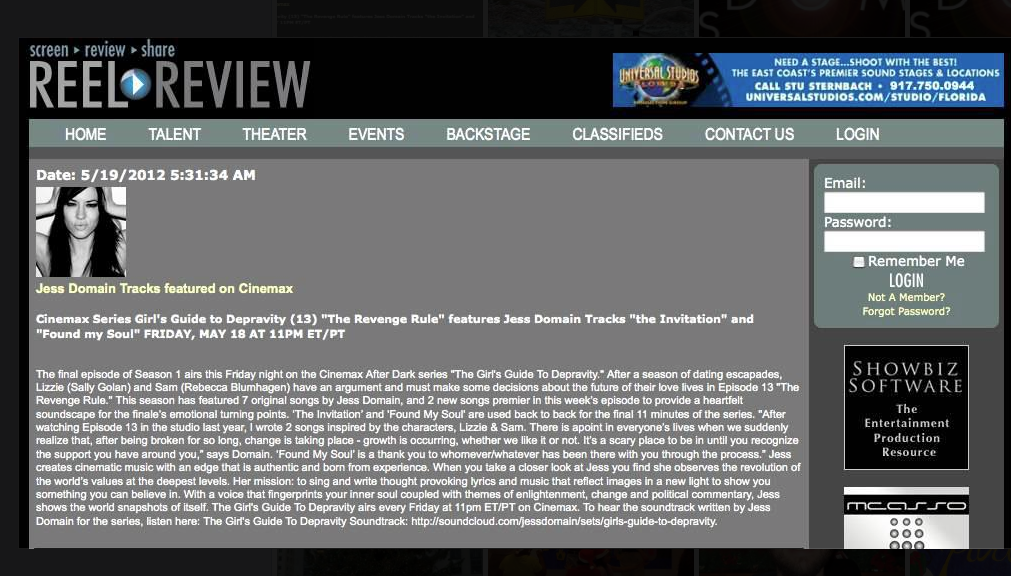 ReelReview WebsiteScreenShot copy
